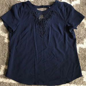 EUC Navy blouse